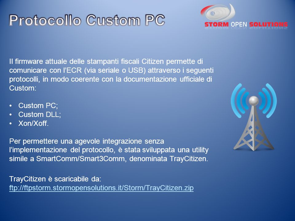 Protocollo Custom PC