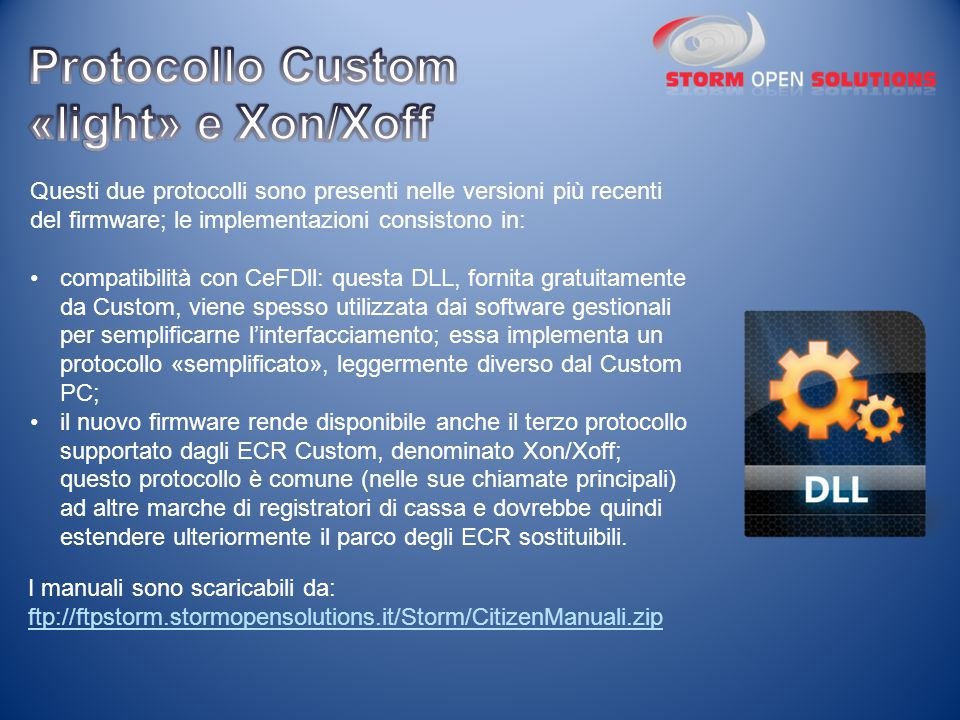 Protocollo Custom «light» e Xon/Xoff