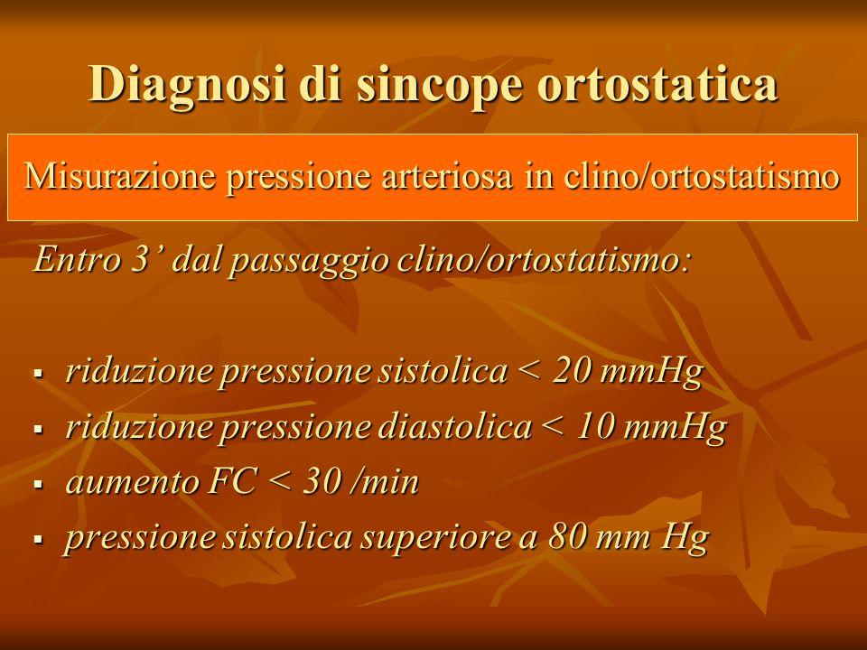 Diagnosi di sincope ortostatica