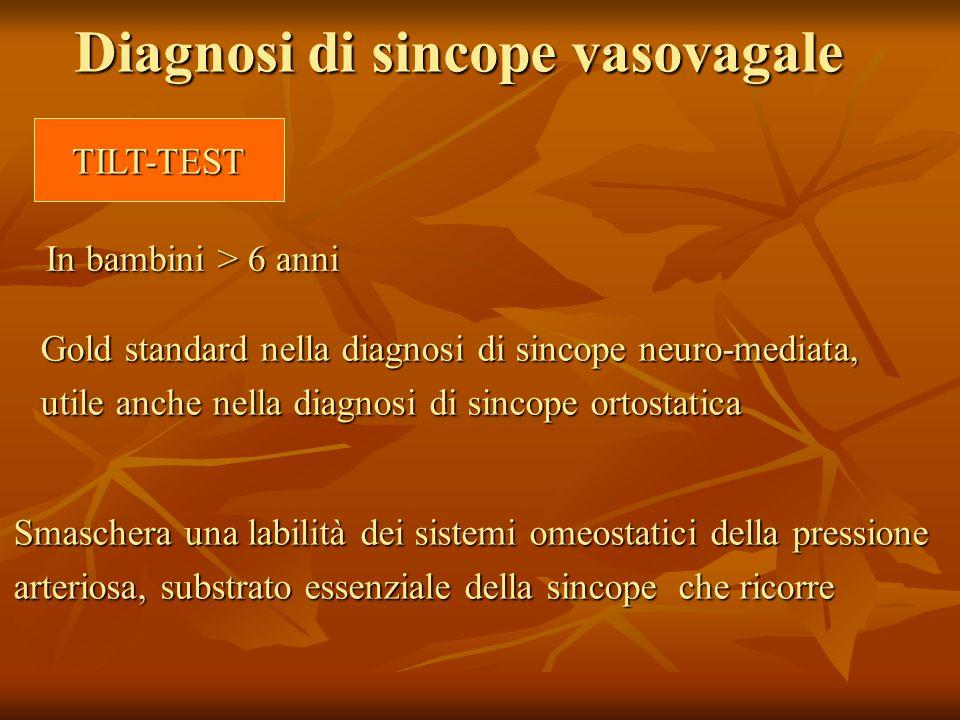 Diagnosi di sincope vasovagale
