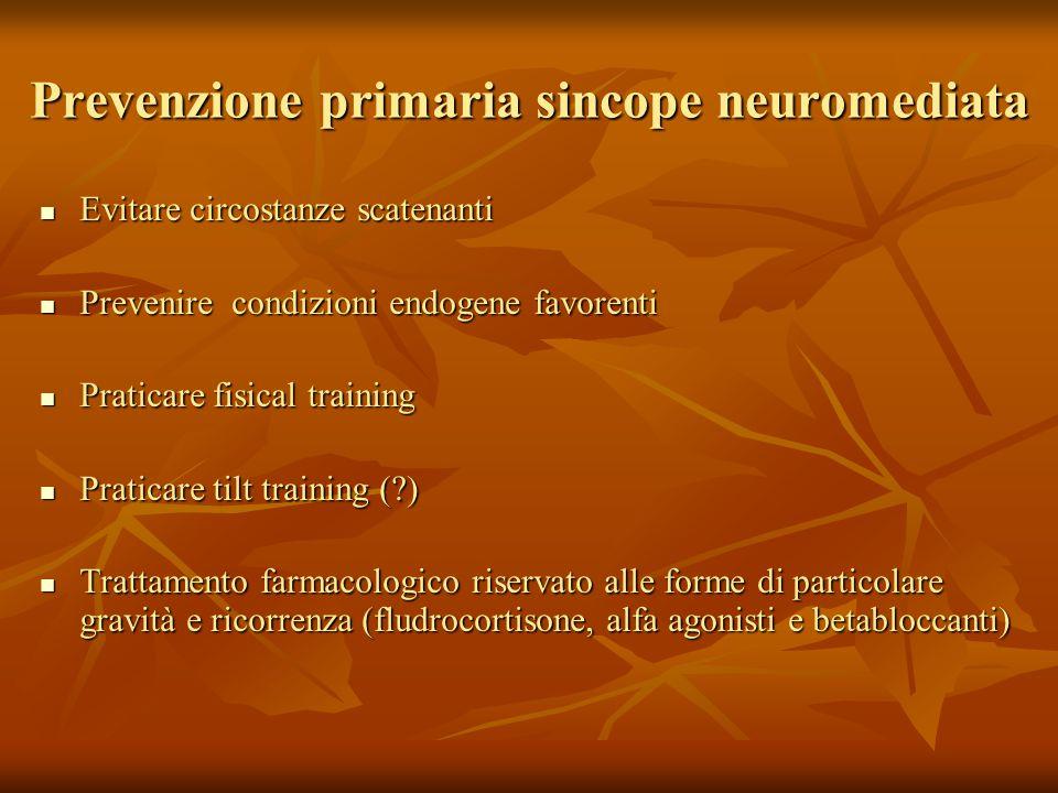 Prevenzione primaria sincope neuromediata