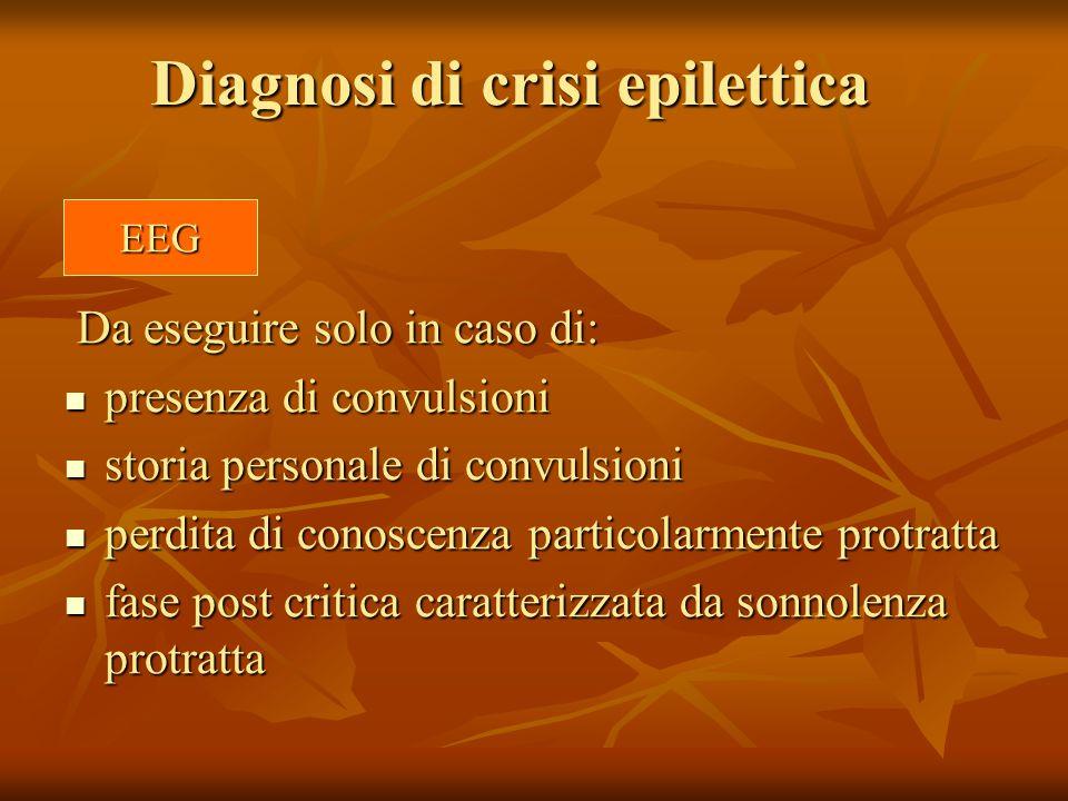 Diagnosi di crisi epilettica
