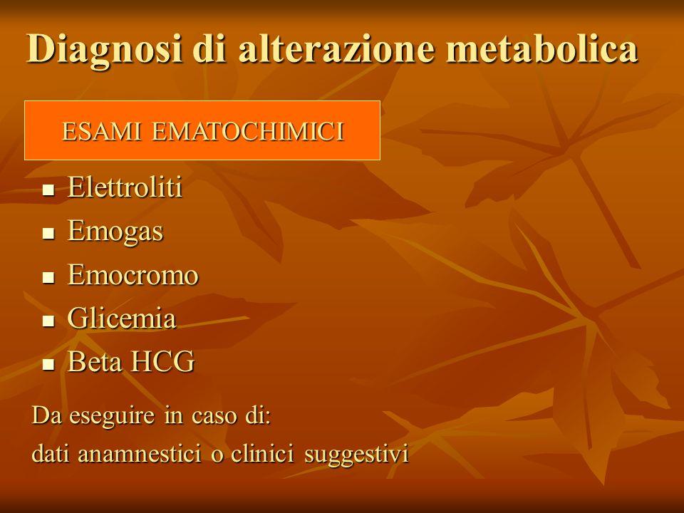Diagnosi di alterazione metabolica