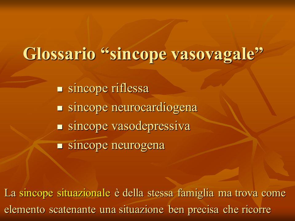 Glossario sincope vasovagale