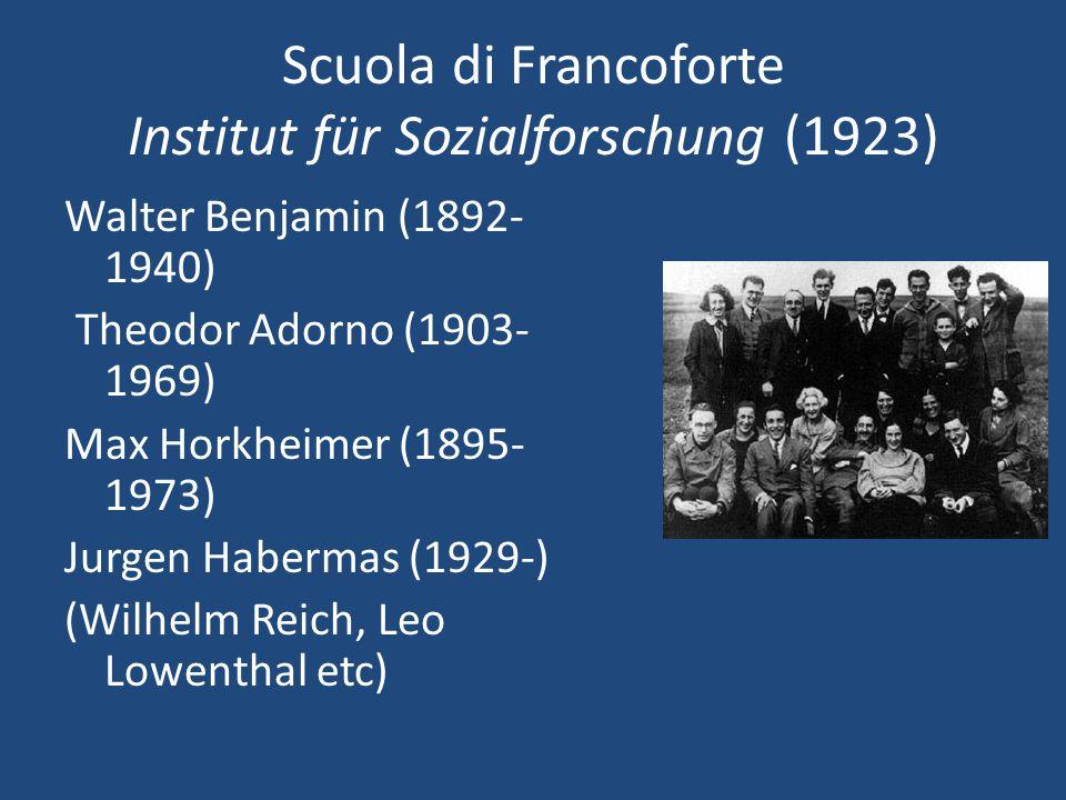 Scuola di Francoforte Institut für Sozialforschung (1923)