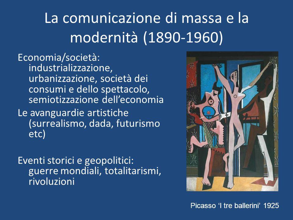 La comunicazione di massa e la modernità (1890-1960)