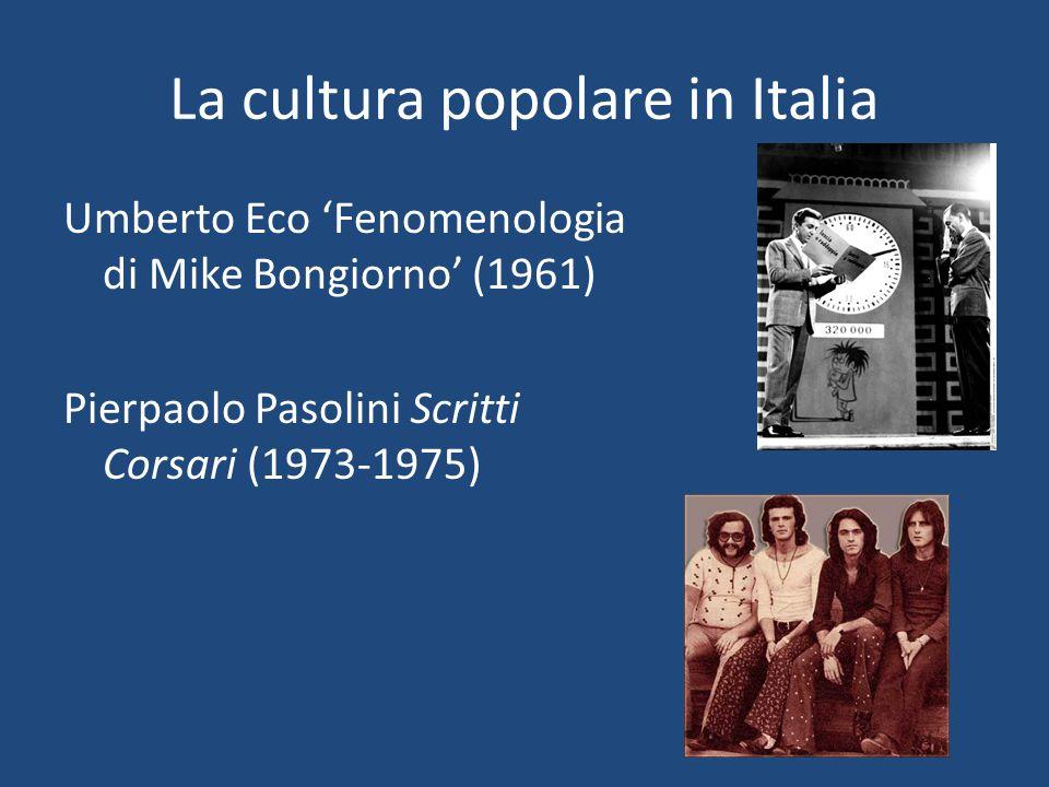 La cultura popolare in Italia