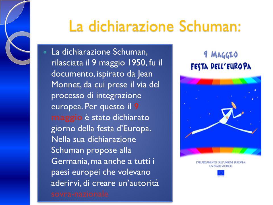 La dichiarazione Schuman: