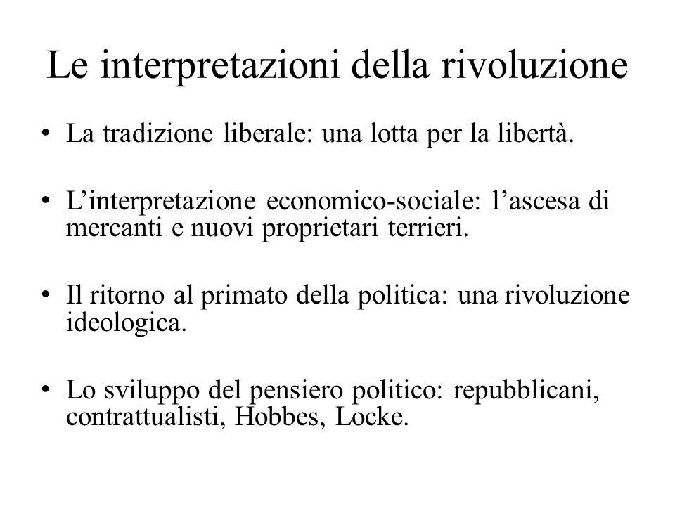 Le interpretazioni della rivoluzione