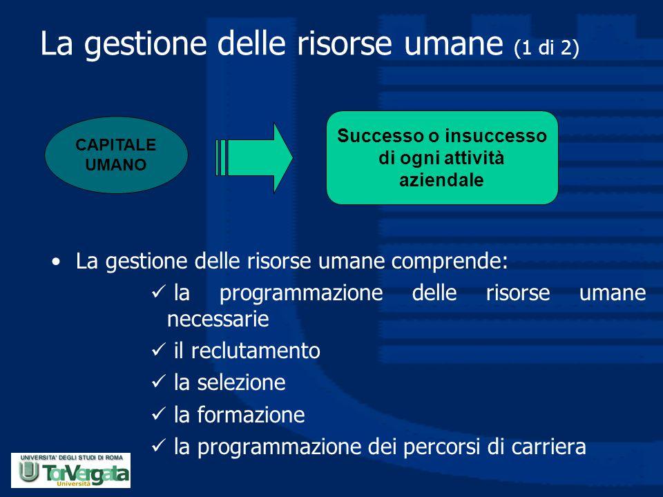 La gestione delle risorse umane (1 di 2)