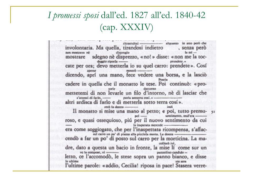 I promessi sposi dall'ed. 1827 all'ed. 1840-42 (cap. XXXIV)