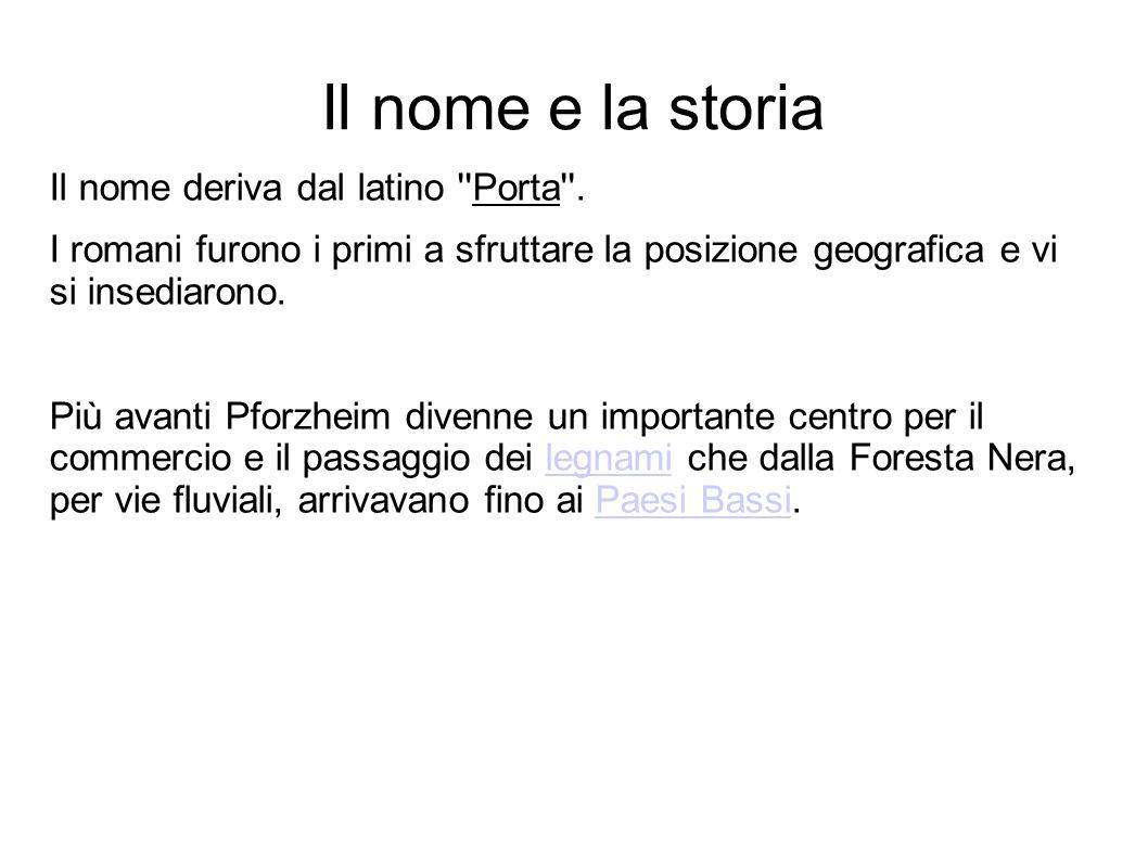 Il nome e la storia Il nome deriva dal latino Porta .