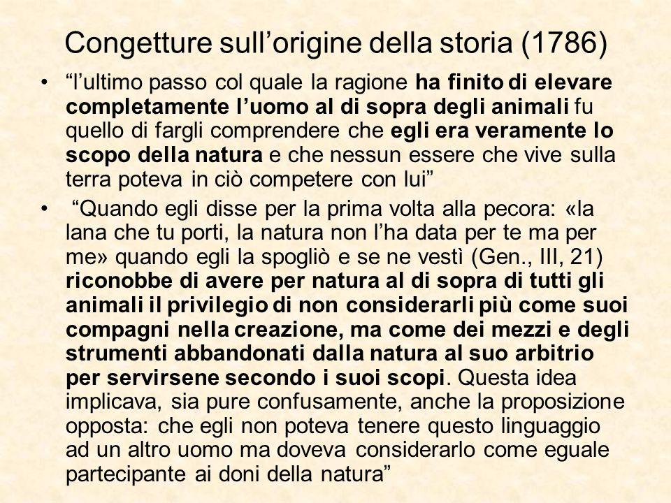 Congetture sull'origine della storia (1786)