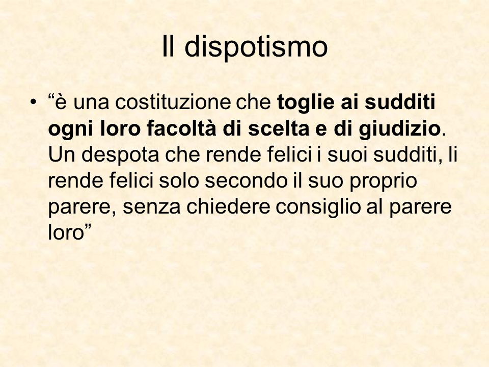 Il dispotismo