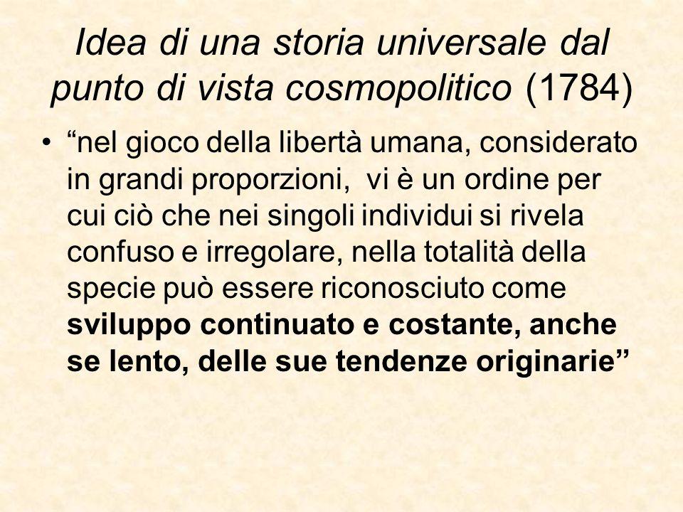 Idea di una storia universale dal punto di vista cosmopolitico (1784)