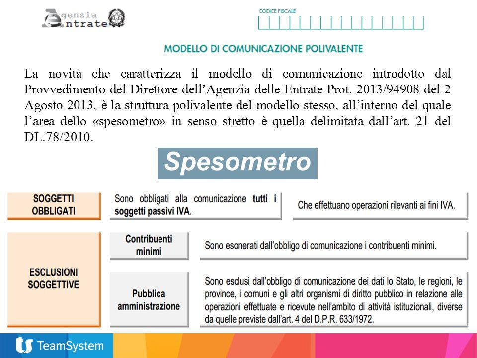 La novità che caratterizza il modello di comunicazione introdotto dal Provvedimento del Direttore dell'Agenzia delle Entrate Prot.