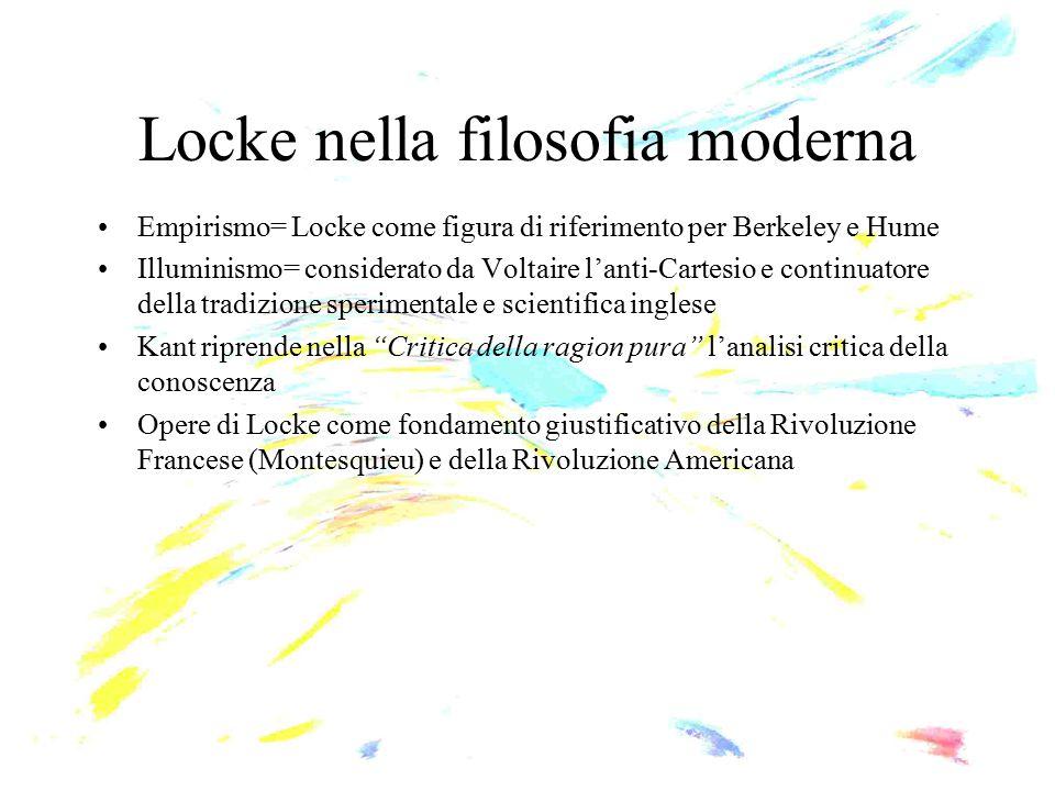 Locke nella filosofia moderna