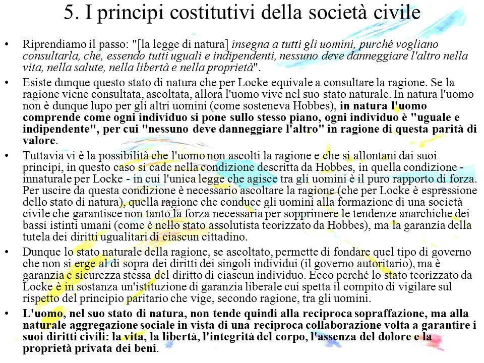 5. I principi costitutivi della società civile