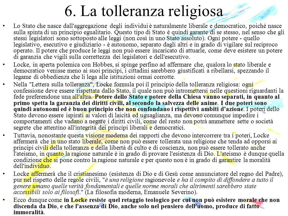 6. La tolleranza religiosa
