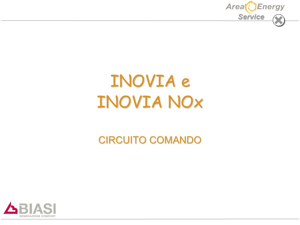 INOVIA e INOVIA NOx CIRCUITO COMANDO