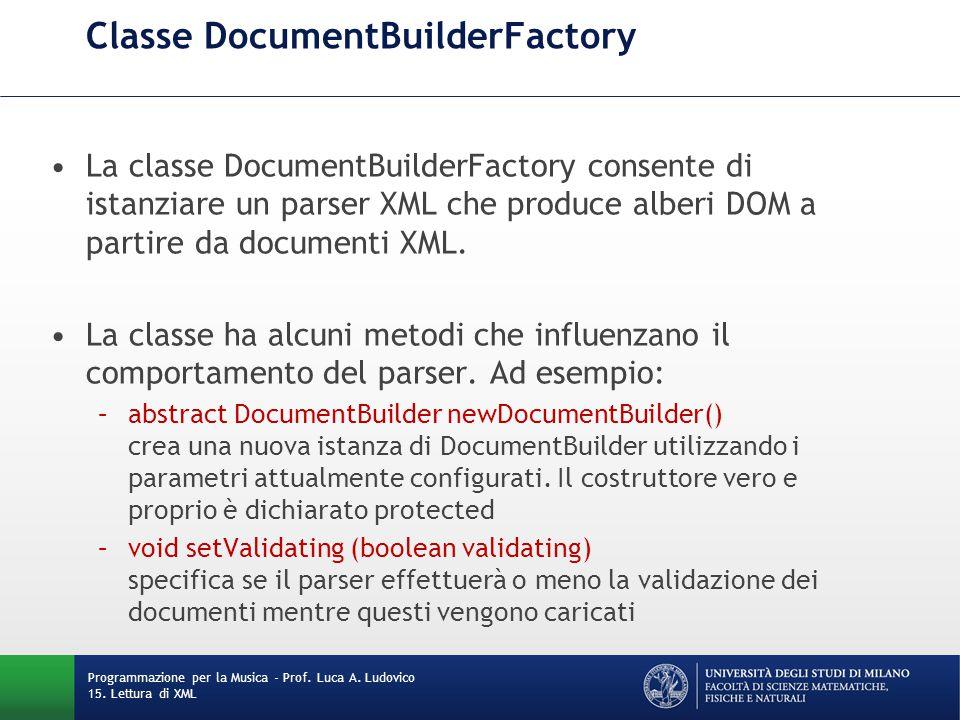 Classe DocumentBuilderFactory