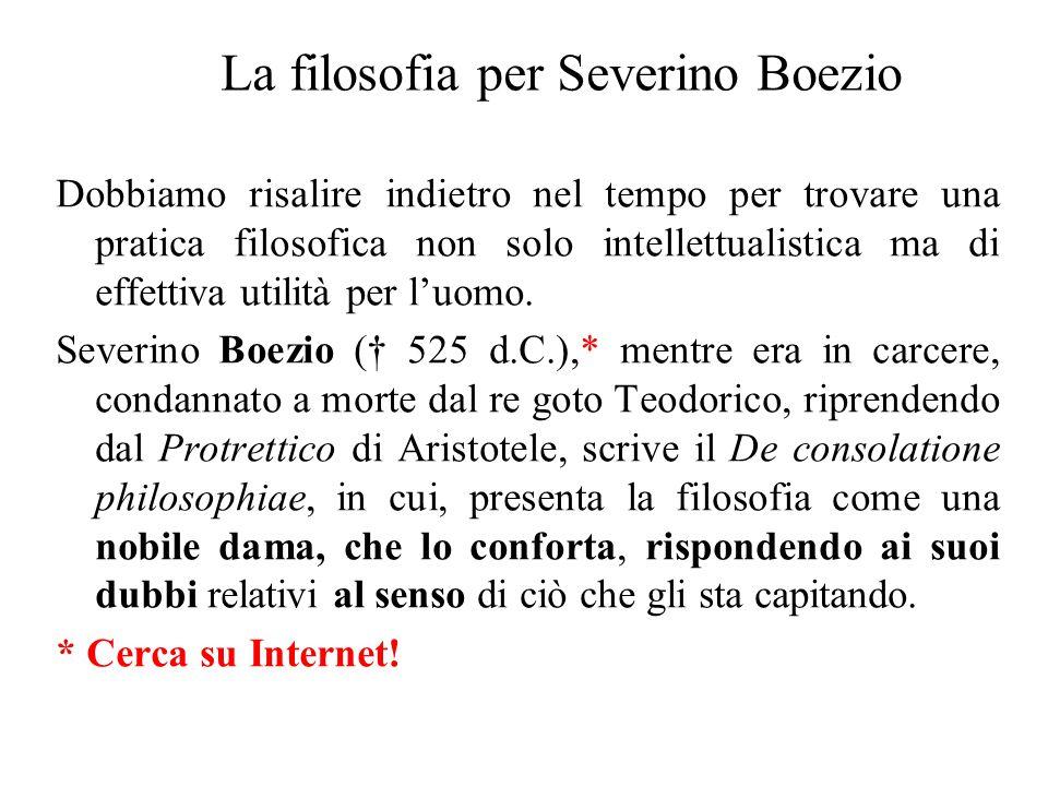 La filosofia per Severino Boezio