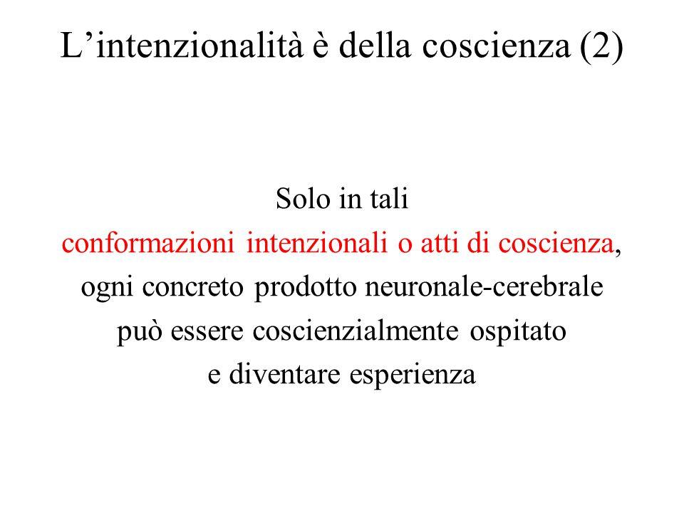L'intenzionalità è della coscienza (2)