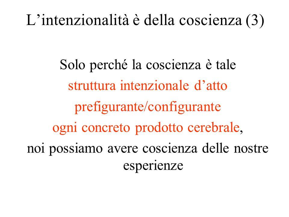 L'intenzionalità è della coscienza (3)