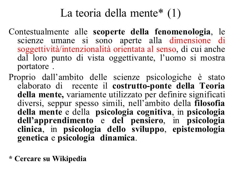 La teoria della mente* (1)