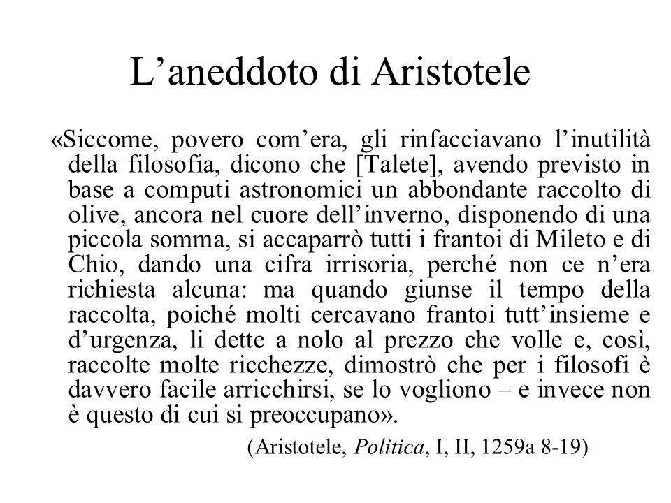 L'aneddoto di Aristotele