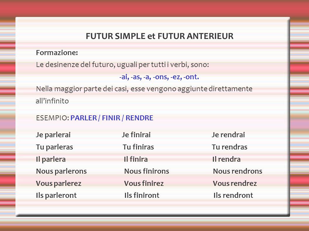 FUTUR SIMPLE et FUTUR ANTERIEUR