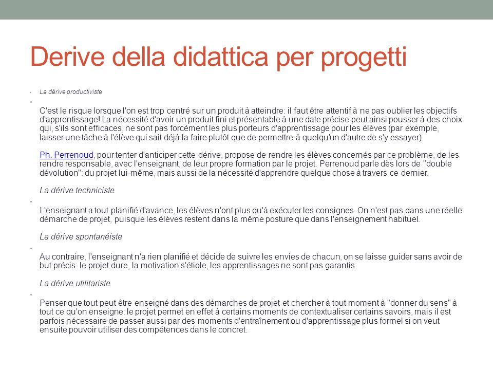 Derive della didattica per progetti