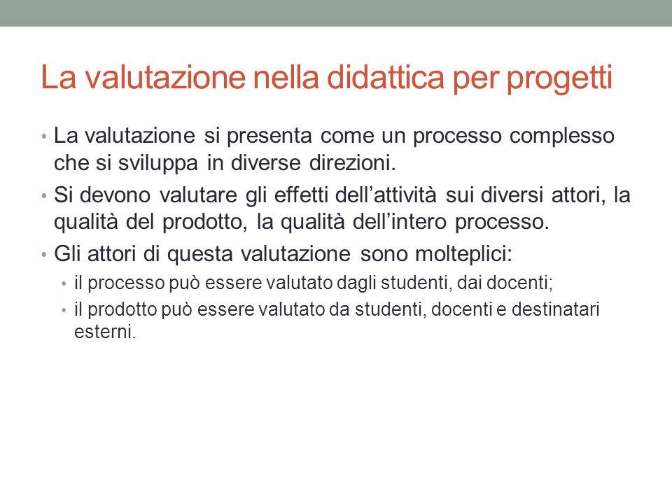 La valutazione nella didattica per progetti