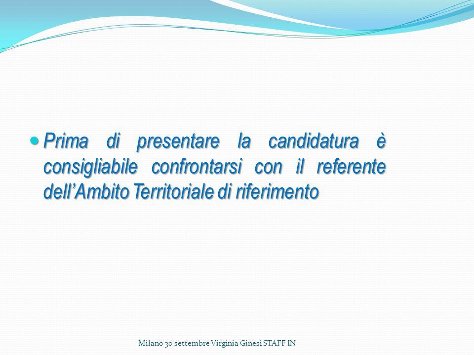 Prima di presentare la candidatura è consigliabile confrontarsi con il referente dell'Ambito Territoriale di riferimento