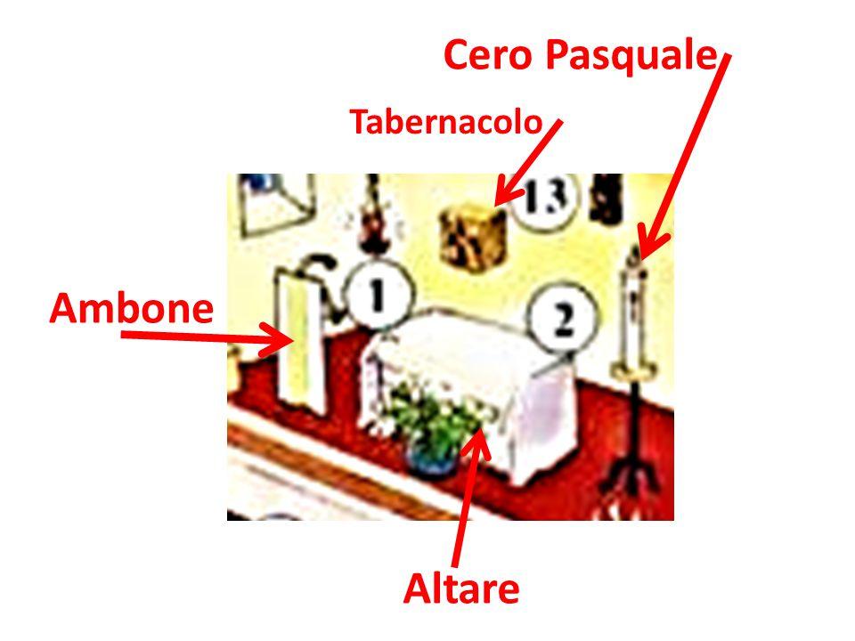Cero Pasquale Tabernacolo Ambone Altare