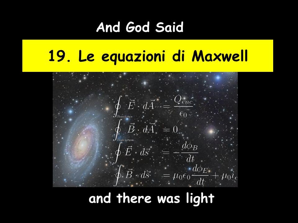19. Le equazioni di Maxwell