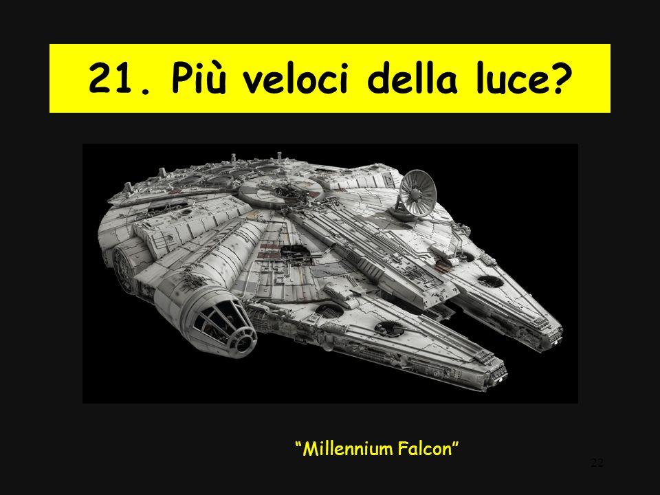 21. Più veloci della luce Millennium Falcon