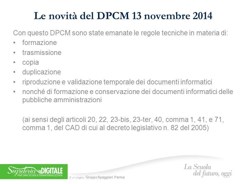 Le novità del DPCM 13 novembre 2014