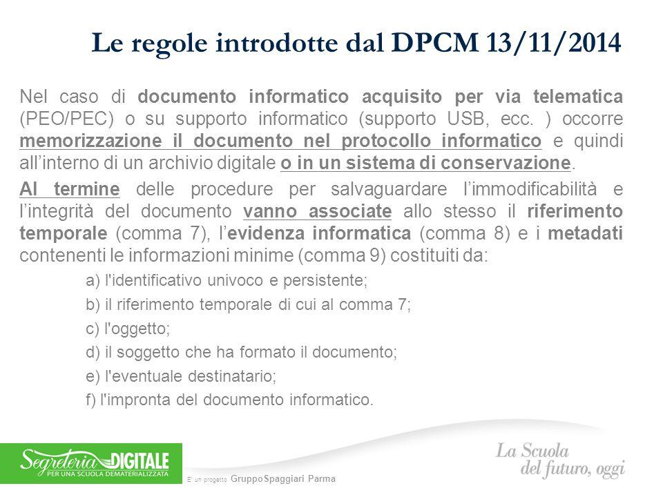 Le regole introdotte dal DPCM 13/11/2014