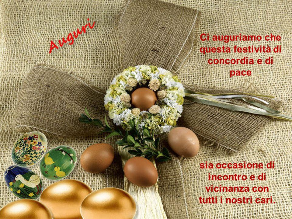 Ci auguriamo che questa festività di concordia e di pace