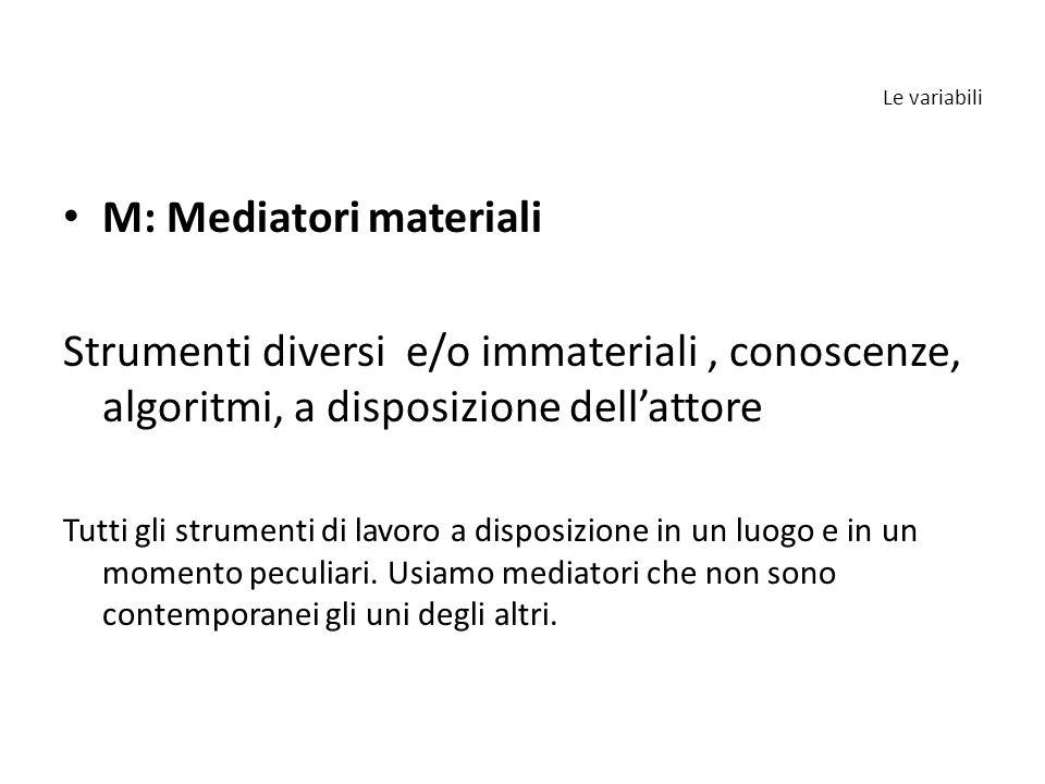 M: Mediatori materiali