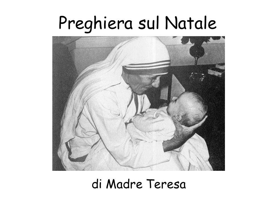 Preghiera sul Natale di Madre Teresa
