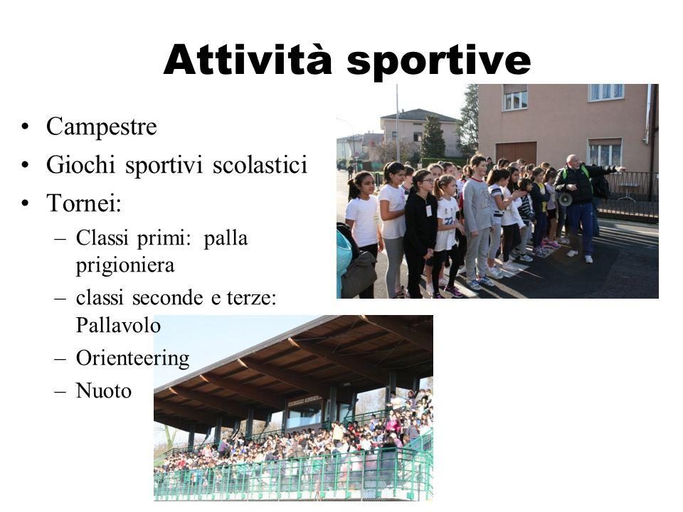 Attività sportive Campestre Giochi sportivi scolastici Tornei: