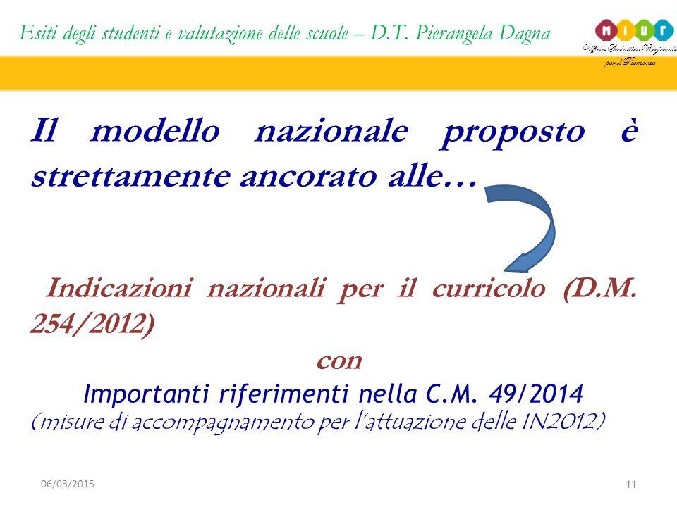 Importanti riferimenti nella C.M. 49/2014