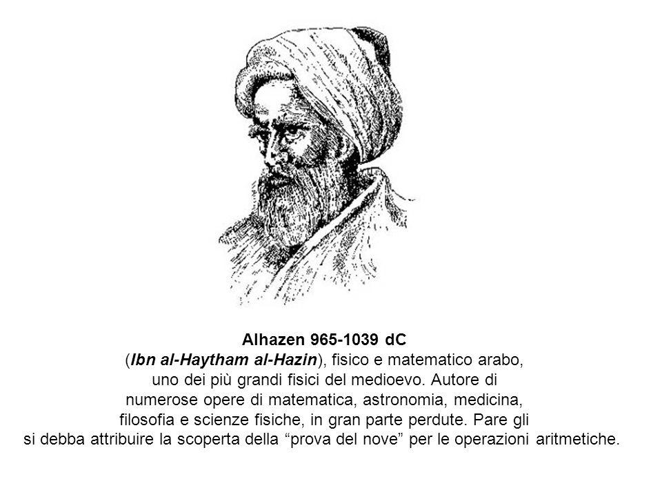 (Ibn al-Haytham al-Hazin), fisico e matematico arabo,