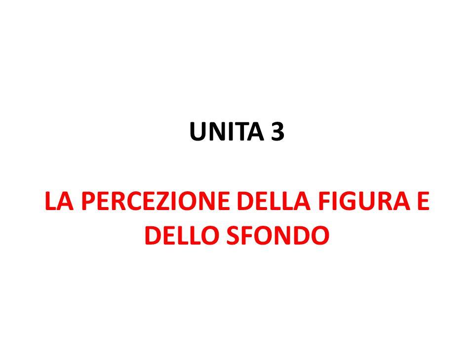 UNITA 3 LA PERCEZIONE DELLA FIGURA E DELLO SFONDO