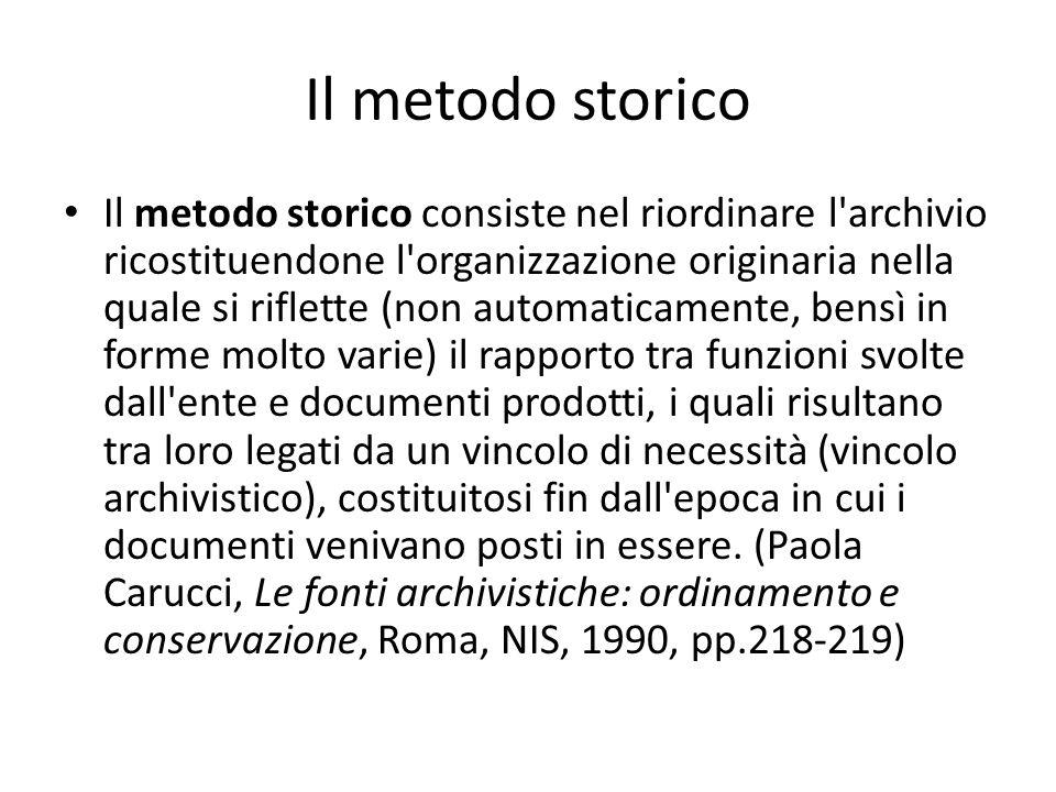 Il metodo storico