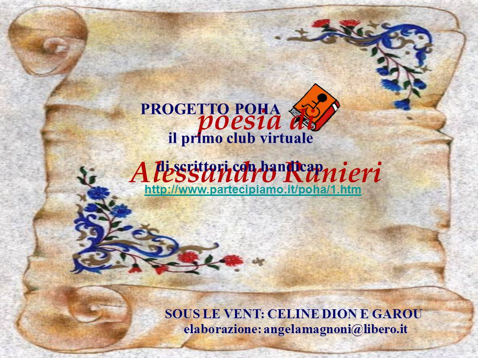 poesia di Alessandro Ranieri