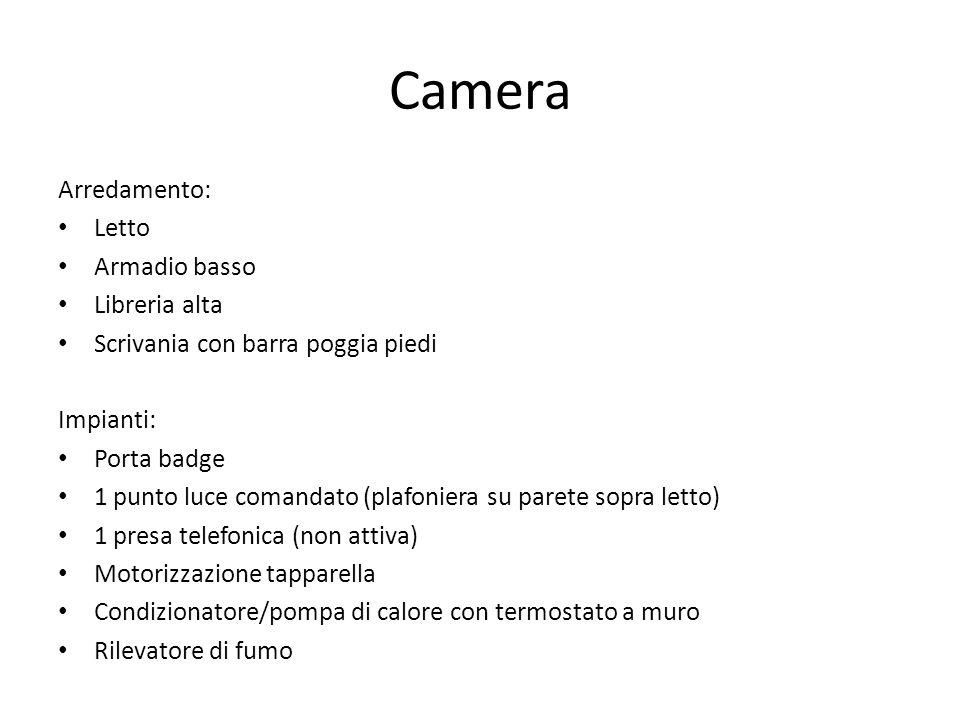 Camera Arredamento: Letto Armadio basso Libreria alta
