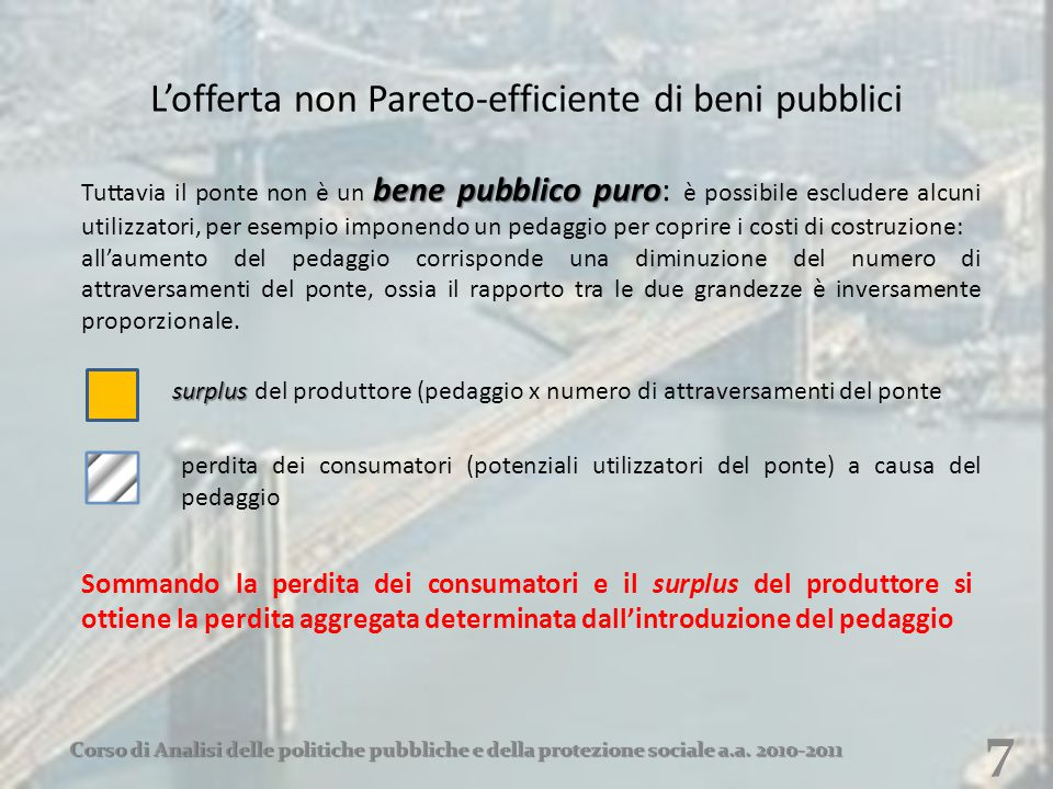 L'offerta non Pareto-efficiente di beni pubblici